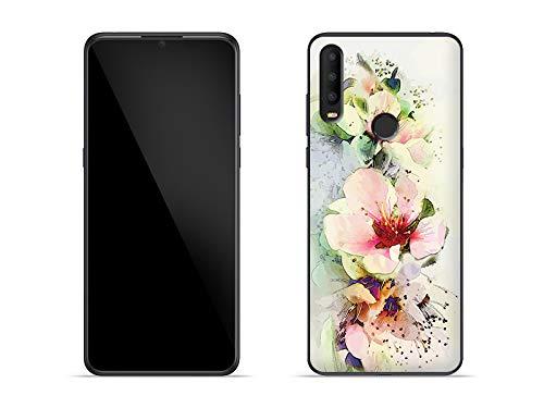 etuo Hülle für Alcatel 3X (2019) - Hülle Fantastic Case - Teerosen Handyhülle Schutzhülle Etui Case Cover Tasche für Handy