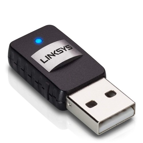 Linksys AE6000 Wireless Mini USB Adapter AC 580 Dual Band,Black,8.60in. x 5.40in. x 2.30in.