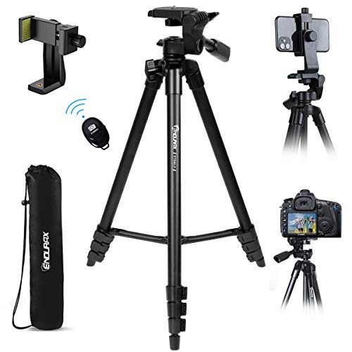 """Endurax Cell Phone Tripod 60"""" for Phone and Camera Extendable Phone Stand for Recording with Remote Shutter & Universal Smartphone Mount for Android Phone"""