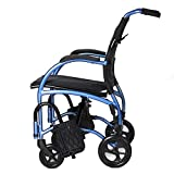 Strongback Mobility Excursion 8 Lightweight Foldable Wheelchair, Built-in Adjustable Lumbar Support, Promotes a Healthy Spine, 18' seat Width, 2.0 Model