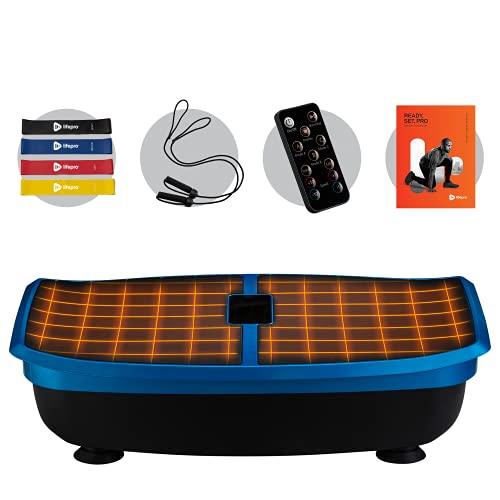 LifePro Heated Vibration Plate Exercise Machine - Back Exercise, Calf & Leg Exerciser, Body Sculpting, Home Gym, Lymphatic Drainage Machine Vibrating Platform