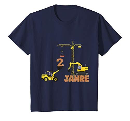 Kinder Kinder Bagger T-Shirt 2. Geburtstag Jungen 2 Jahre Shirt Bau
