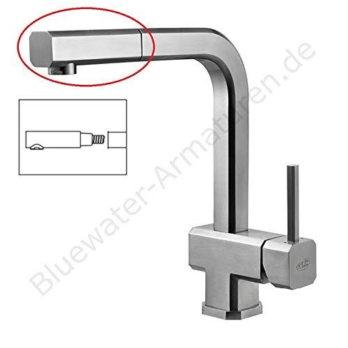 Douchekop incl. straalregelaar voor Bluewater ROSA keukenkraan INOX roestvrij staal waterkraan met douche, keuken waterkraan designer keukenkraan gootstafelarmatuur hogedrukreiniging