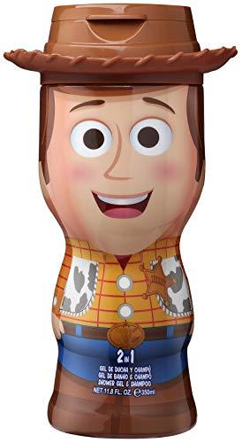 Toy Story 2in1 Duschgel Shampoo 3D Figur Woody mit tollem Duft für Kinder und Erwachsene 400 ml, 1 stück
