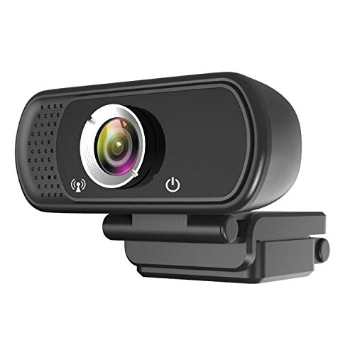 JOJOHO 1080P Full HD Live Streaming Webcam with Stereo Microphone, Plug and Play USB Port, Desktop or Laptop Web Camera for Widescreen Video Calling and Recording, Flexible Rotatable Clip