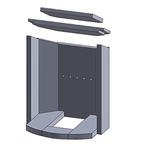 Flamado Feuerraumauskleidung Komplettset 10-teilig passend für Justus Kamin Ersatzteile Kaminofen Brennraumauskleidung Vermiculite 1.150°C