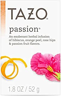 Tazo Herbal Tea for an exuberant cup of tea Passion serve hot or iced, caffeine free​, 20 Tea Bags per Box - Pack of 3 Boxes
