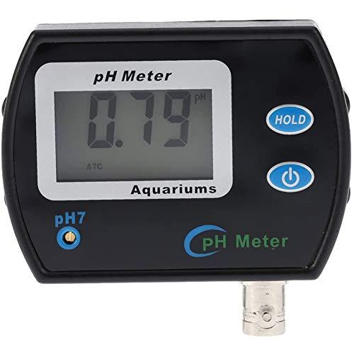 Mini Professionnel en Ligne PH Compteur qualité de l'eau testeur/étanche Appareil Analyse Moniteur qualité avec Compensation de température - ATC et Rétro-éclairage,Noir