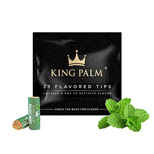 King Palm   Flavored Filter Tips   25 Pack   7 mm (Magic Mint)