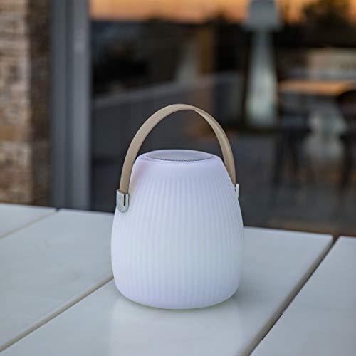 Lumisky linterna, multicolor de jardín inalámbrico sobre batería con altavoz Bluetooth Mini...