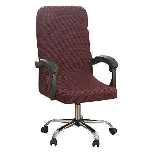 LYY Bürostuhlbezüge, Stretch Computer Chair Schonbezüge Protector, Abnehmbarer waschbarer Stuhl Sitzkissen Protektoren, Stuhlbezug für Büro Drehstuhl Armlehne Stuhl