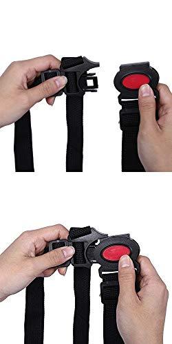 Rmeet Cintura di Sicurezza per Bambini,5 Punti Imbracatura per Seggiolone Regolabile Cinture per Bambino Passeggino Carrozzina Sedie Nero