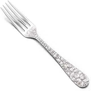 Baltimore Rose by Schofield, Sterling Luncheon Fork, Decorated Back