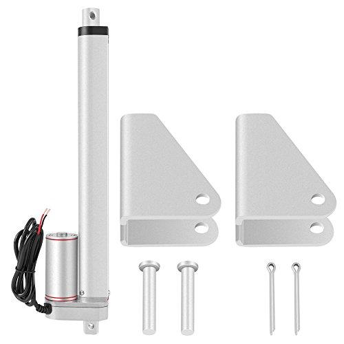 LANTRO JS - Actuador lineal eléctrico de línea recta de carrera de 300 mm Actuador lineal de alta resistencia 750N de 24 V para varilla de elevación de soporte eléctrico