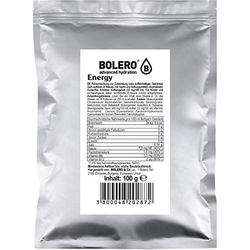 Bolero Drinks Getränkepulver, 100 g Beutel (Energy)