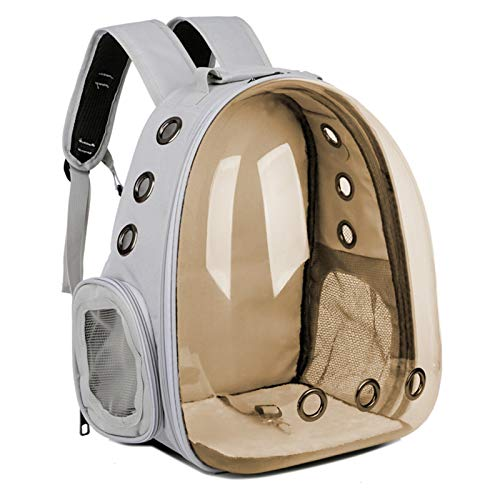 hgkl Cat backpack Breathable Pet Travel Bag Cover Dog Cat Bag Basket Portable Outdoor Travel Cat Backpack Carrying Cage Pet Supplies (Color : GY2)