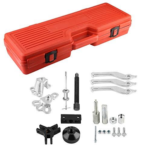 Extractor de rodamiento de coche, juego de martillo deslizante universal de 10 vías Extractor de rodamiento Conjunto de extractor interno