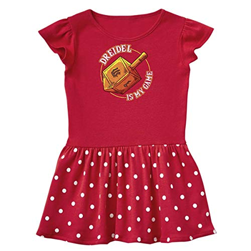 inktastic Hanukkah Dreidel Game Toddler Dress 2T Red with Polka Dots 389cd