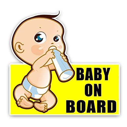 Yanxintiyu Cartello di avvertimento carino auto adesivo decorazione auto bambino 14 * 13 cm
