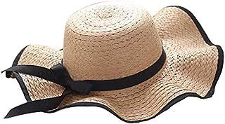 Hat Straw hat Women's Big Brim Hat Bowknot Straw Hat Foldable Roll Up Sun Hat Sun hat Panama hat (Color : Brown, Size : One Size) (Color : Brown, Size : One Size)