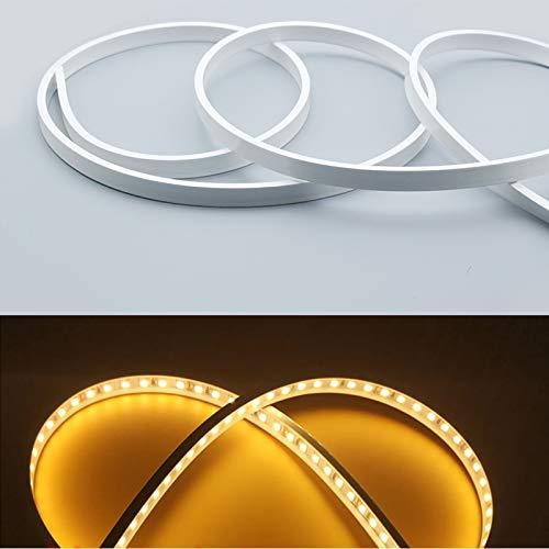Silikon-LED-Kanal-System, LED-Aluminiumprofil, Ersatzteil, weiches biegsames LED-Profil, 5 m 13 x 5 mm, wasserdicht IP67, geeignet für 10 mm flexible LED-Lichtleiste, für Innen- und Außenbeleuchtung