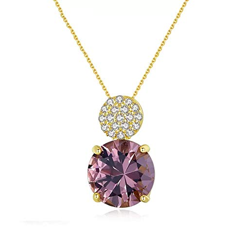 Zultanite Gemstone Pendant Necklaces for Women Wedding Engagement Fine Jewelry 925 Sterling Silver
