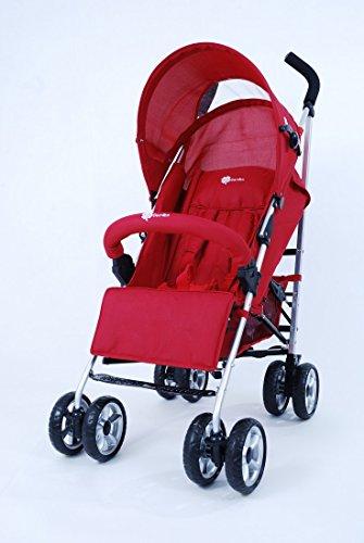 Buggy Kinderwagen Doppelschwenkräder Modell A801AL Große Farbauswahl, Farbe:Rot