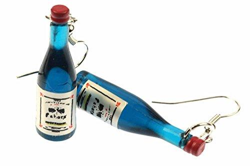 pendientes botella de vino botella de vino Miniblings pendientes mini botellas azules