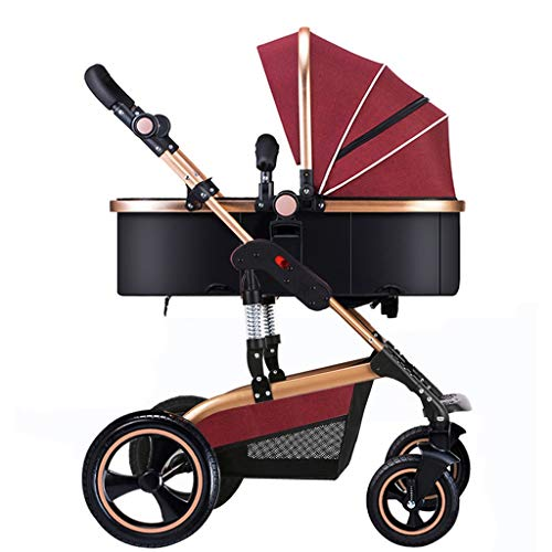 For Sale! KHUY Stroller Folded Depreciation Ventilation Pushchair Pram Buggy with Lying Position Big...