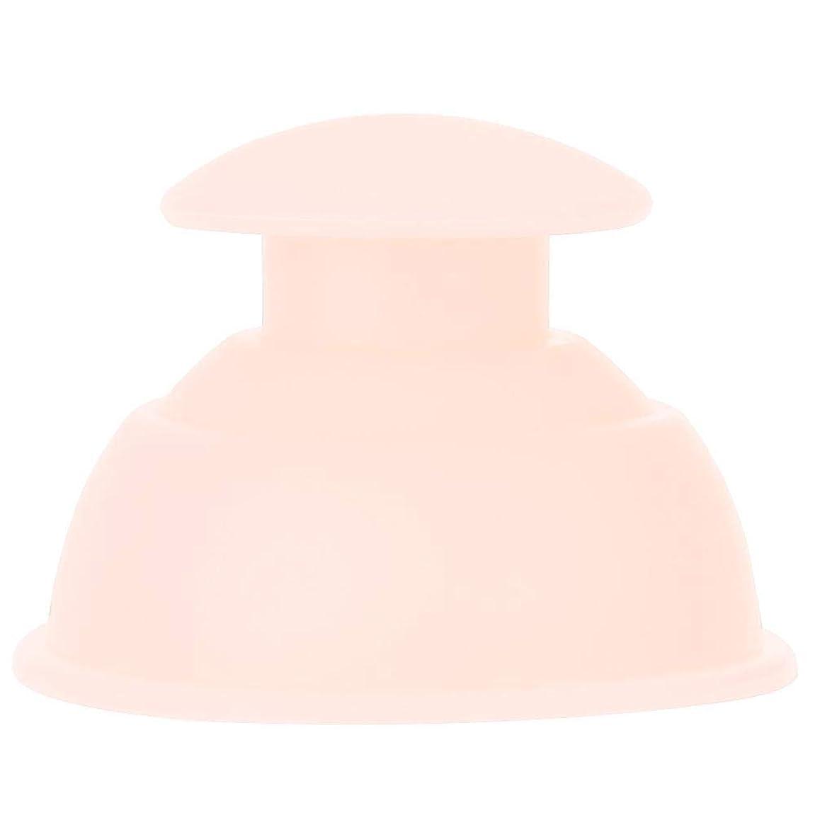 病危機奨学金7種類のカッピングカップマッサージセット、シリコーン水分吸収剤アンチセルライトバキュームによる 全身疲れの緩和(ライトピンク)