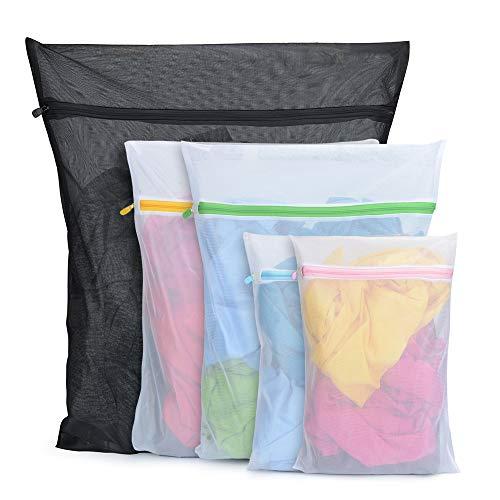 BoxLegend Wäschenetze Wäschebeutel Wäschesack für die Waschmaschine 5 Stück Haltbarer Netz-Wäschebeutel mit Reißverschluss für Feinwäsche Unterwäsche Feines Socken