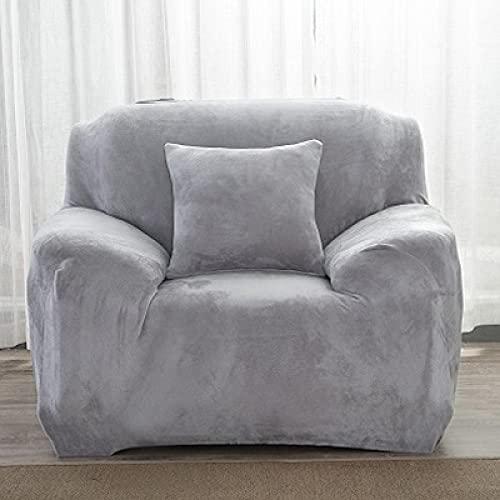 YNYEZBH 1 Uds Funda de sofá de Felpa para Sala de Estar en Forma de L sofá elástico elástico sofá y Funda de sillón Chaise Longue Silvergray