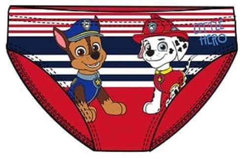 La Patrulla Canina - Bañador para bebé y niño, color azul y rojo de 12 a 36 meses rojo 18 meses