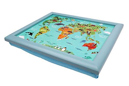 Maturi 460125 Kids World Map Small Lap Tray, Wood