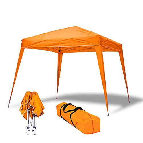 Carpa Plegable 3x3m Compact Naranja de jardín, terraza, Camping, Playa