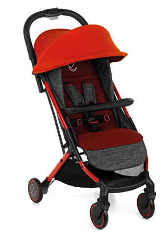 Jané Rocket - Silla de paseo ligera, peso 6.4 kg, apta desde el nacimiento hasta 15 kg, freno de pie, chasis aluminio, suspensión 4 ruedas, plegado y conducción con una mano, plegado avión, unisex