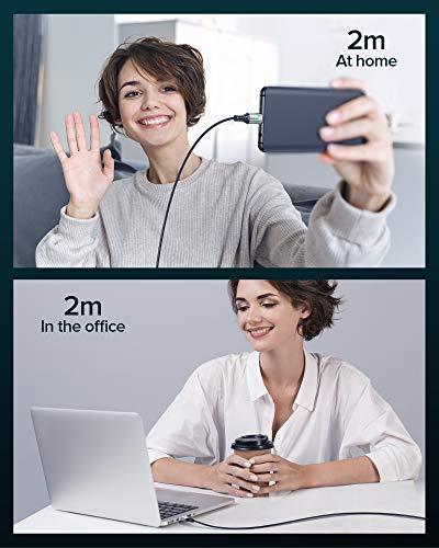 USB C Kabel, INIU 100W [2 Stück] 5A PD QC 4.0 Schnellladekabel USB C auf USB C Kabel, [2m+2m] Nylon Typ C Handy Ladekabel für iPad Pro 2020, MacBook, Laptop Nintendo Switch Samsung S20 S10 Huawei Mehr