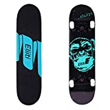ELIITI Skateboard Pro 31 inch Complete Skateboard Maple Wood Double Kick Trick Board for Teens Adults Beginners 220lb (Monkey Print)