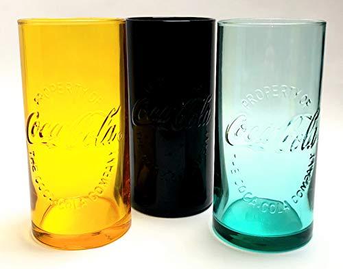 Coca Cola - Vasos de 0,3 l de cristal, vasos de Arcoroc, vasos blandos, vasos largos, vasos para restaurantes, bares, fiestas, 3 unidades