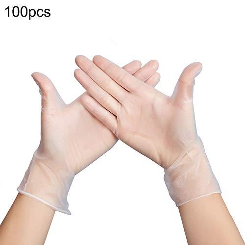 100 Stück Einweg-PVC-Handschuhe Haushalts-Anti-Virus-Verschmutzung Tattoo-Inspektion Lebensmittel Schönheitshandschuh Kontaktinfektion Verhindern