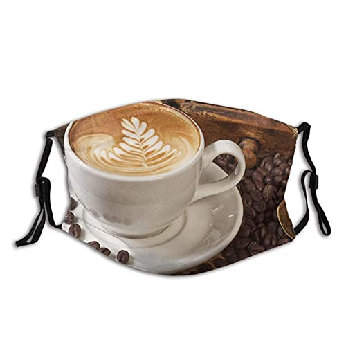 Máscara facial cómoda platillo taza granos café a prueba de sol moda Bandana Headwear para la pesca