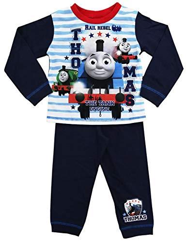 Jungen Schlafanzug Thomas die Lokomotive Gr. 4-5 Jahre, Thomas – gestreift