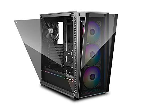 DEEP COOL MATREXX703F Caja de Ordenador para PC, E-ATX Compatible, Panel Frontal con Sistema de Liberación al Tacto, Panel Lateral de Montaje Fácil, A Prueba de Polvo Completamente