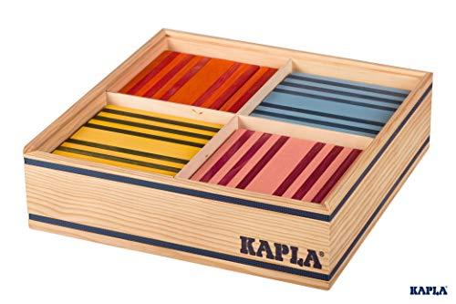 KAPLA OCTOCOLOR, 100 Holzplättchen, 8 verschiedene Farben - 2