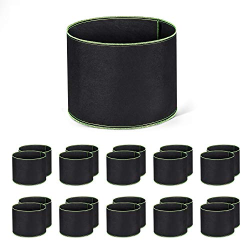ACSTEP Grow Bags 20 Pack 1 Gallon Heavy Duty Aeration Fabric Pots Thickened Nonwoven Fabric Pots Plant Grow Bags