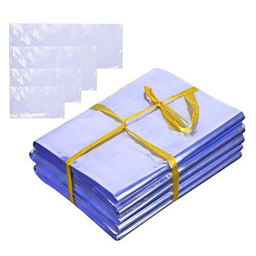 400 bolsas de plástico termorretráctiles, 10 x 15, 12 x 18, 14 x 20, 14 x 25 cm, 4 tamaños, transparentes, sin olor, para jabones, bombas de baño, velas de cristal, manualidades, regalos