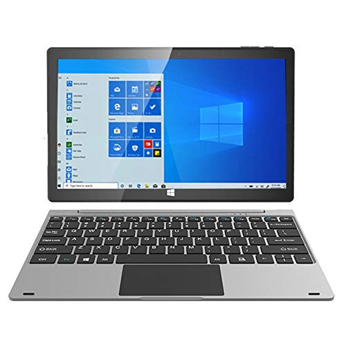 SUWEN Tableta Ultra-Portátiles,Portátil 2 en 1, Pantalla FHD de 10.1 Pulgadas, Sistema Windows 10, 8600mAh, 4 + 64GB, 2.0 + 5.0 MP, Compatible con Tarjeta TF, con Teclado, 4G
