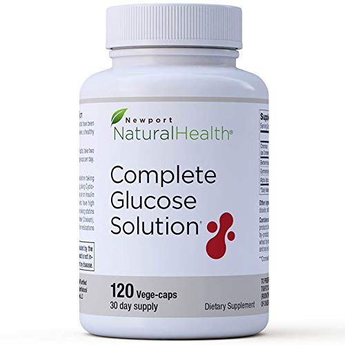 Complete Glucose Solution: Healthy Blood Sugar Supplement, Healthy Insulin Glucose Support, Improve A1c, Curb Sugar Cravings, Berberine, Chromium, Crominex®3+, 120 Vege-caps (30-Day Supply)