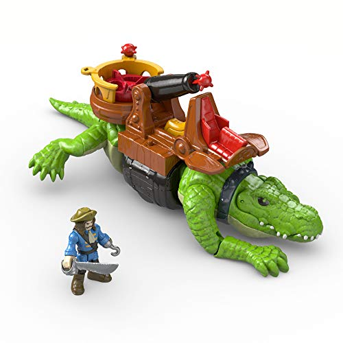 Fisher-Price- Croc and Hook Imaginext, Multicolor (Mattel DHH63)