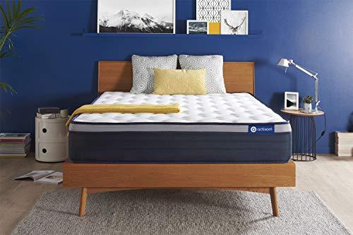 Materasso Actiflex max 160x200cm, Spessore : 26 cm, Molle insacchettate e memory foam, Rigido, 7 zone di comfort
